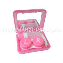Средства ухода Kaida Набор для хранения линз розовый